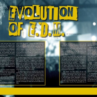 EVOLUTION OF E.D.M.